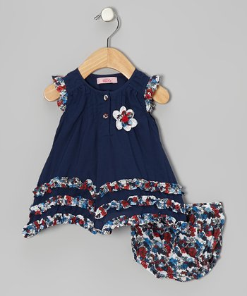 Blue Ruffle Dress - Infant, Toddler & Girls