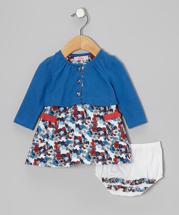 Blue Cardigan Dress - Infant, Toddler & Girls