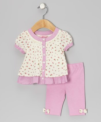 Pink Floral Tunic & Leggings - Infant, Toddler & Girls