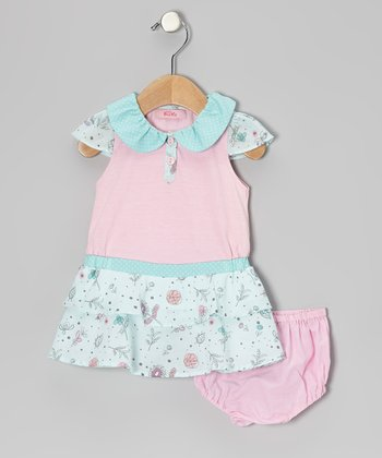Pink Drop Waist Dress - Infant, Toddler & Girls
