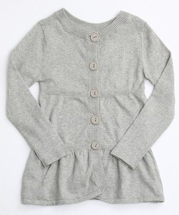 Heather Gray Layered Tunic Cardigan