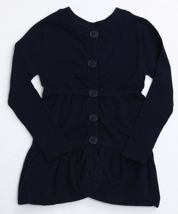 Midnight Navy Layered Tunic Cardigan