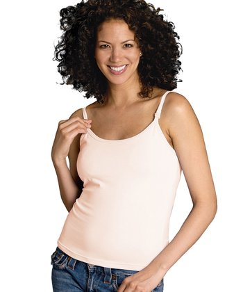 Cream Nursing Bra Tank
