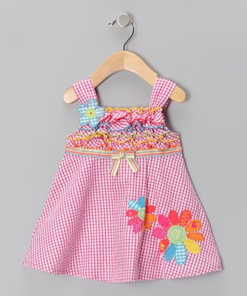 Pink Gingham Babydoll Dress - Infant, Toddler & Girls
