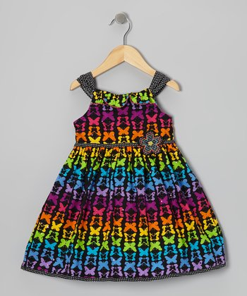 Rainbow Butterfly A-Line Dress - Infant