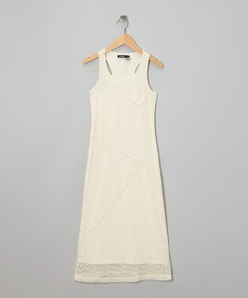 Cream Maxi Dress - Girls