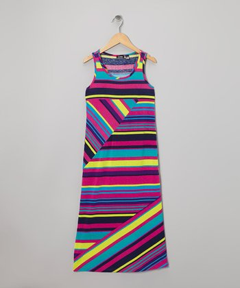 Futuristic Stripe Maxi Dress - Girls