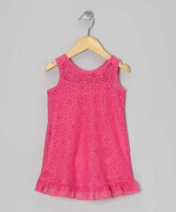 Rose Summer Swing Dress - Toddler & Girls