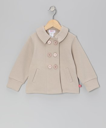 Stone Pastel Terry Jacket - Toddler
