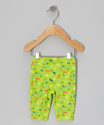 Lime Cowboy Leggings
