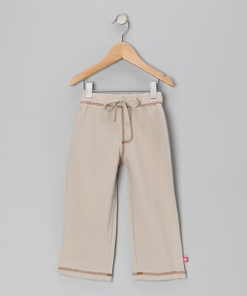 Stone Pastel Terry Pants - Toddler