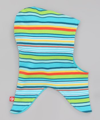 Pool Blue Stripe Balaclava