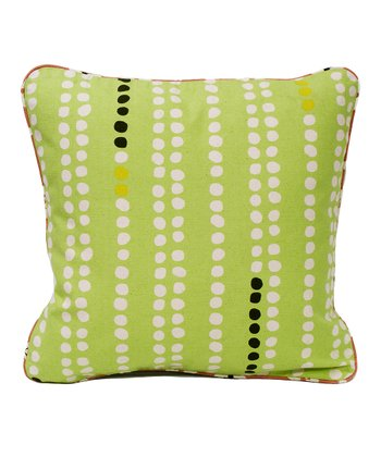 Dots Organic Canvas Throw Pillow
