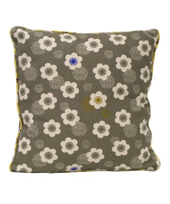 Poppies Organic Canvas Throw Pillow