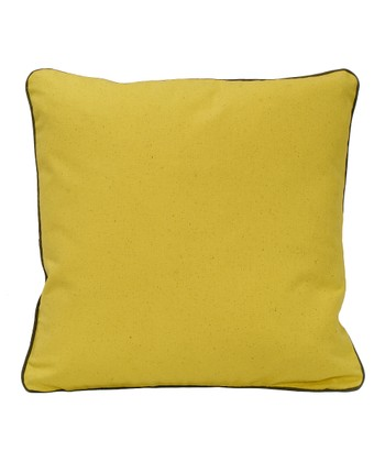 Yellow Organic Canvas Throw Pillow