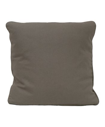 Gray Organic Canvas Throw Pillow