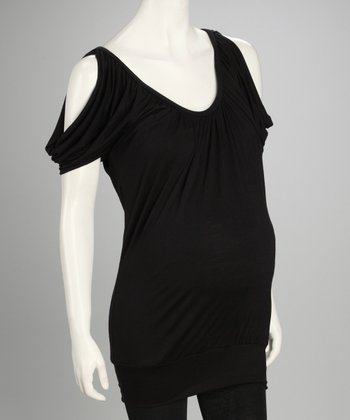 Black Banded Maternity Top