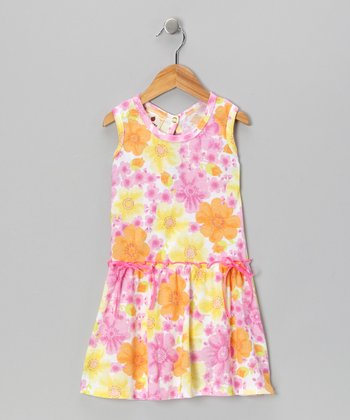 Pink Country Flowers Farmer's Daughter Dress - Toddler