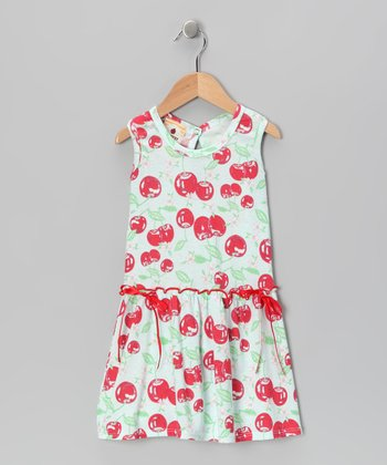 Light Blue Bingo Cherry Farmer's Daughter Dress - Toddler