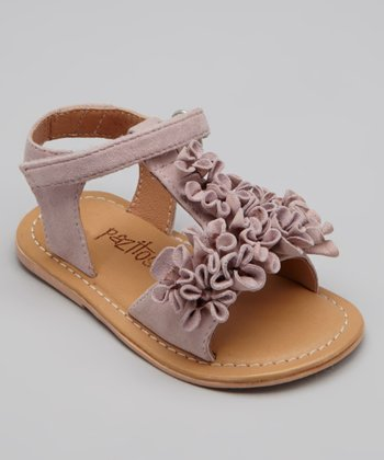 Pink Leather Summer Bloom Sandal