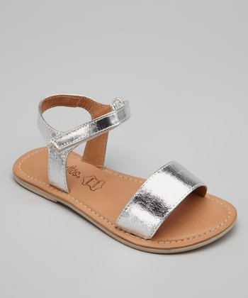 Silver Leather Napolitana Sandal