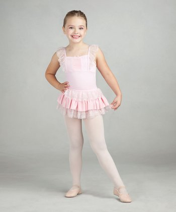 Light Pink Skirted Leotard - Toddler & Girls