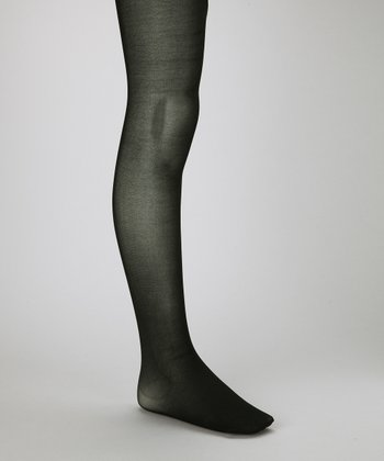 Black Shimmer Tights - Girls