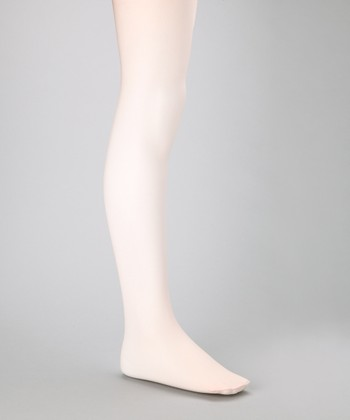 Light Pink Shimmer Tights - Girls