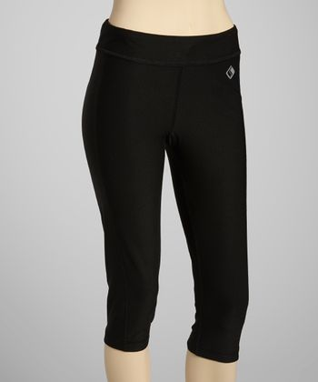 Black Capri Leggings - Women