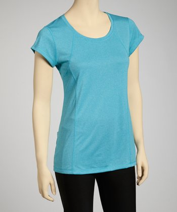 Heather Aqua Sports Tee - Women