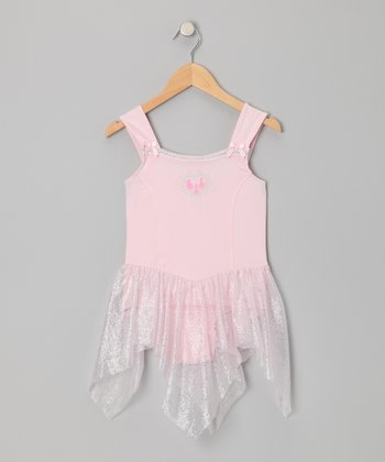 Pink Princess Handkerchief Skirted Leotard - Toddler & Girls