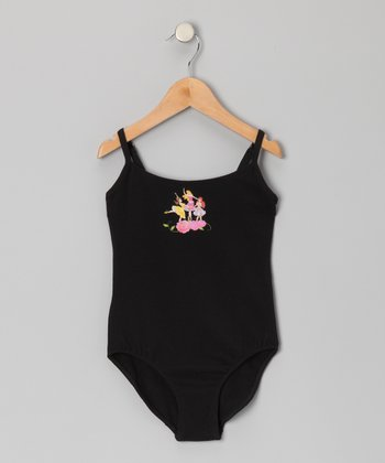 Black Princess Tank Leotard - Girls