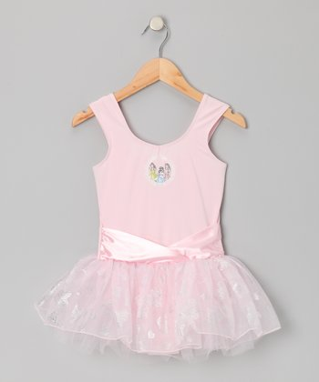 Pink Princess Sash Skirt Leotard - Toddler & Girls