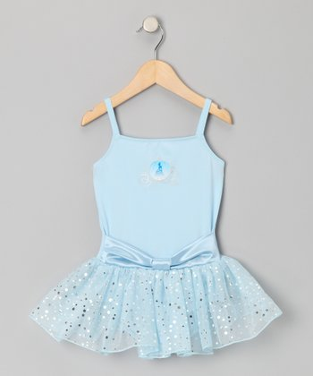Blue Princess Sash Skirted Leotard - Toddler & Girls