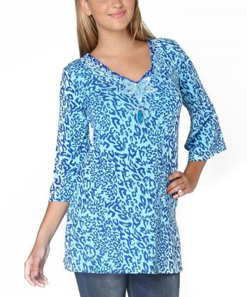 Blue Leopard Lillian Tunic
