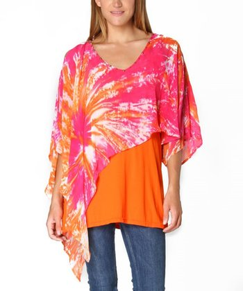 Pink & Orange Tie-Dye Anita Tunic