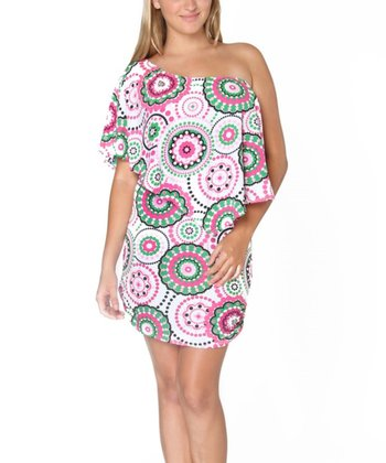 Pink Dot Swirl Tara Dress