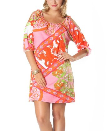 Pink & Orange Evei Dress