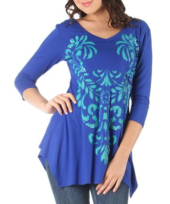 Royal Blue Riley Tunic - Women