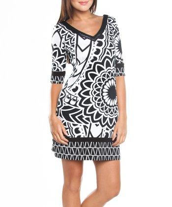 Black & White Suri Dress - Women