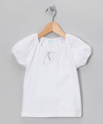 White Peasant Top - Toddler & Girls
