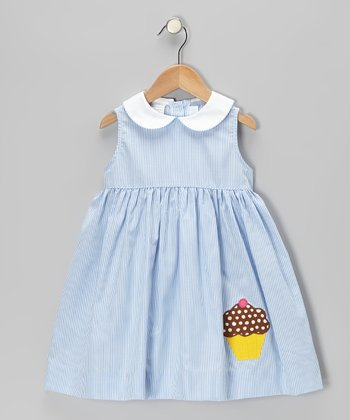 Blue Stripe Cupcake Sundress - Toddler & Girls