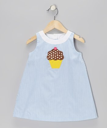 Blue Stripe Cupcake Swing Dress - Infant & Toddler