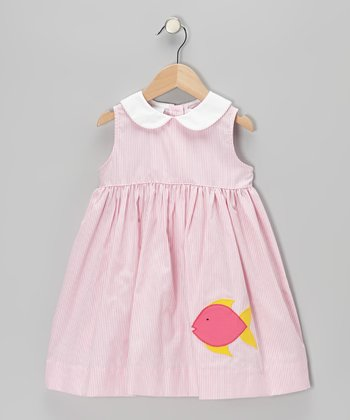 Pink Stripe Fish Sundress - Toddler & Girls