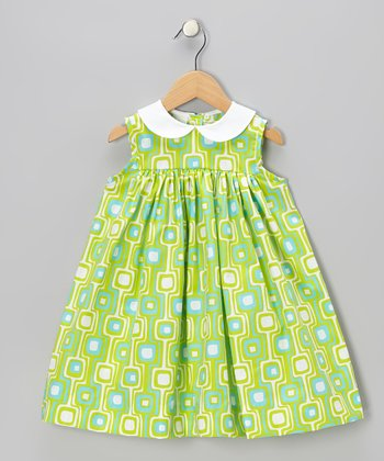 Lime Geometric Float Dress - Infant & Toddler