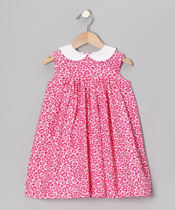 Pink Leopard Float Dress - Toddler
