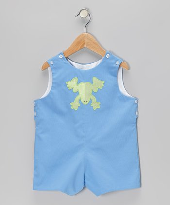 Blue Frog Shortalls - Infant & Toddler