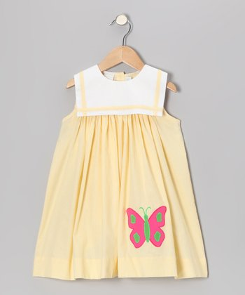 Yellow Stripe Butterfly Sailor Float Dress - Infant & Toddler