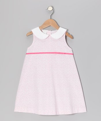 Light Pink Floral Swing Dress - Toddler & Girls