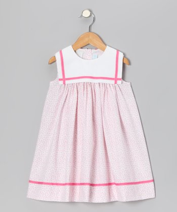 Light Pink Floral Sailor Float Dress - Infant & Toddler